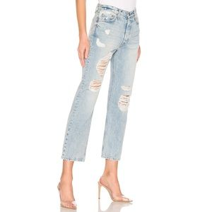 GRLFRND Rhea Straight Leg Distressed Jeans (27)